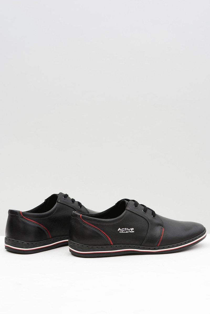 Black Leather Men Shoes Marko