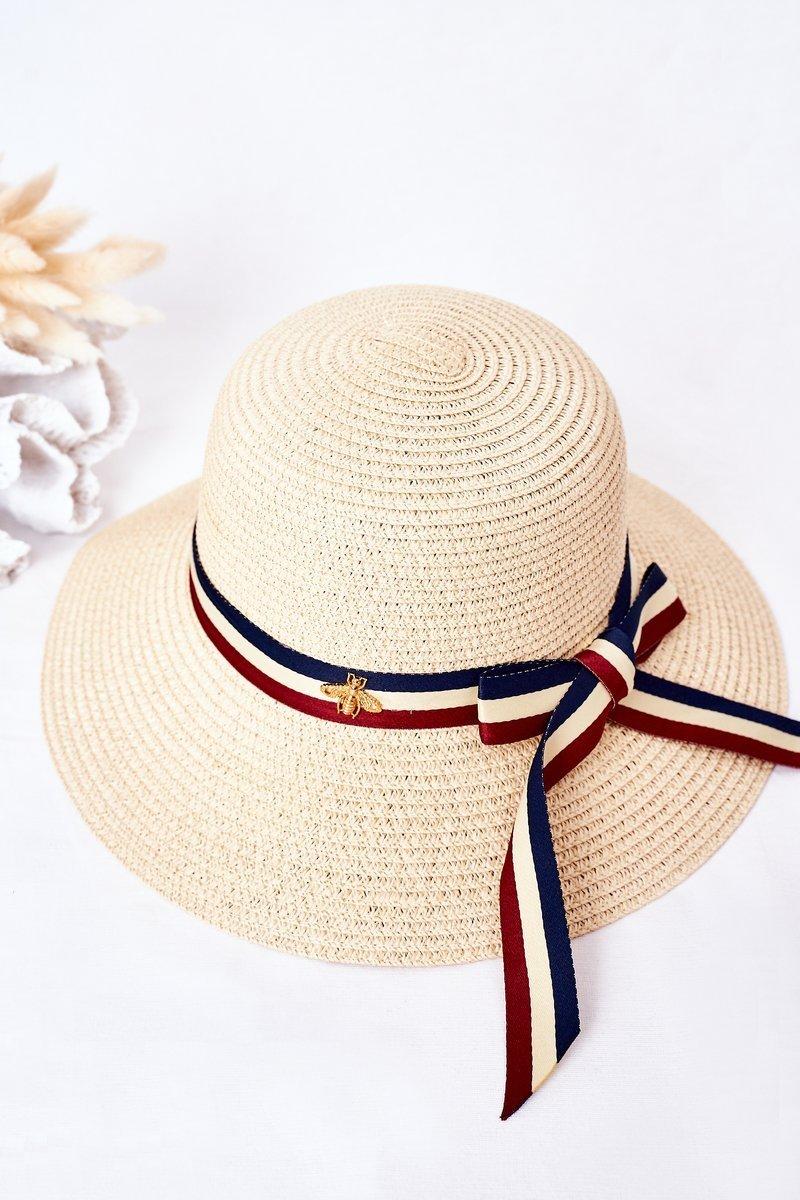 Braided Hat BRUNO ROSSI Beige