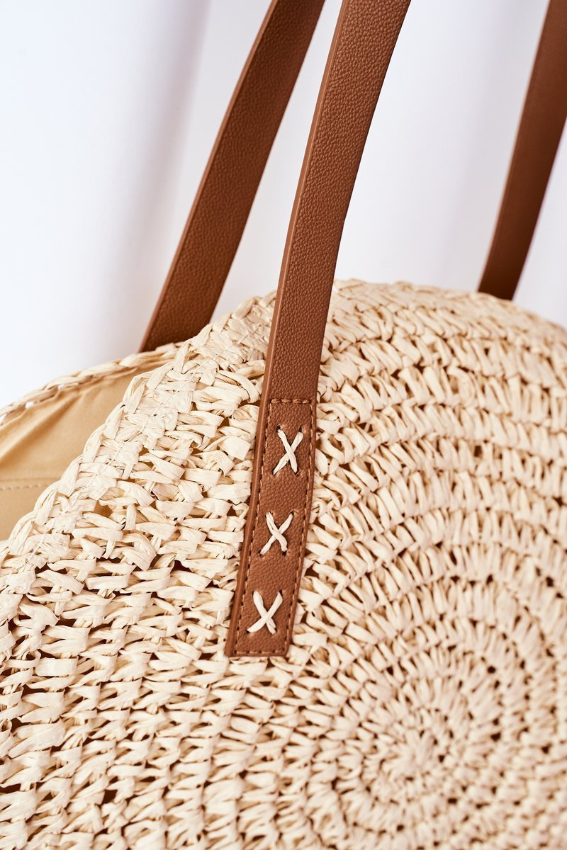 Braided Shoulder Bag BRUNO ROSSI Beige