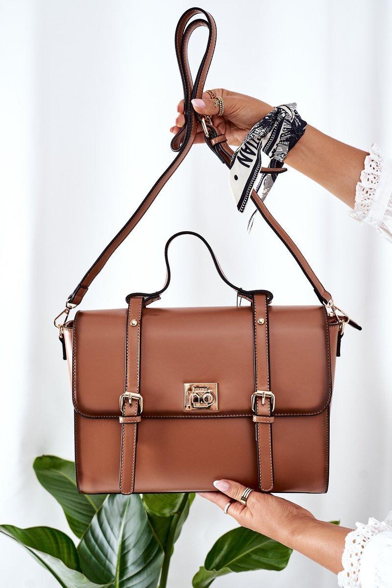 Briefcase Handbag NOBO L1540 Camel