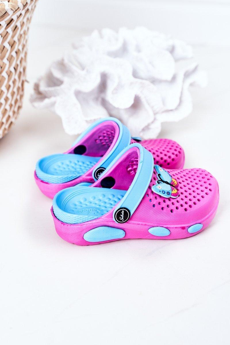 Children's Foam Slippers Crocs Fuchsia Olivia
