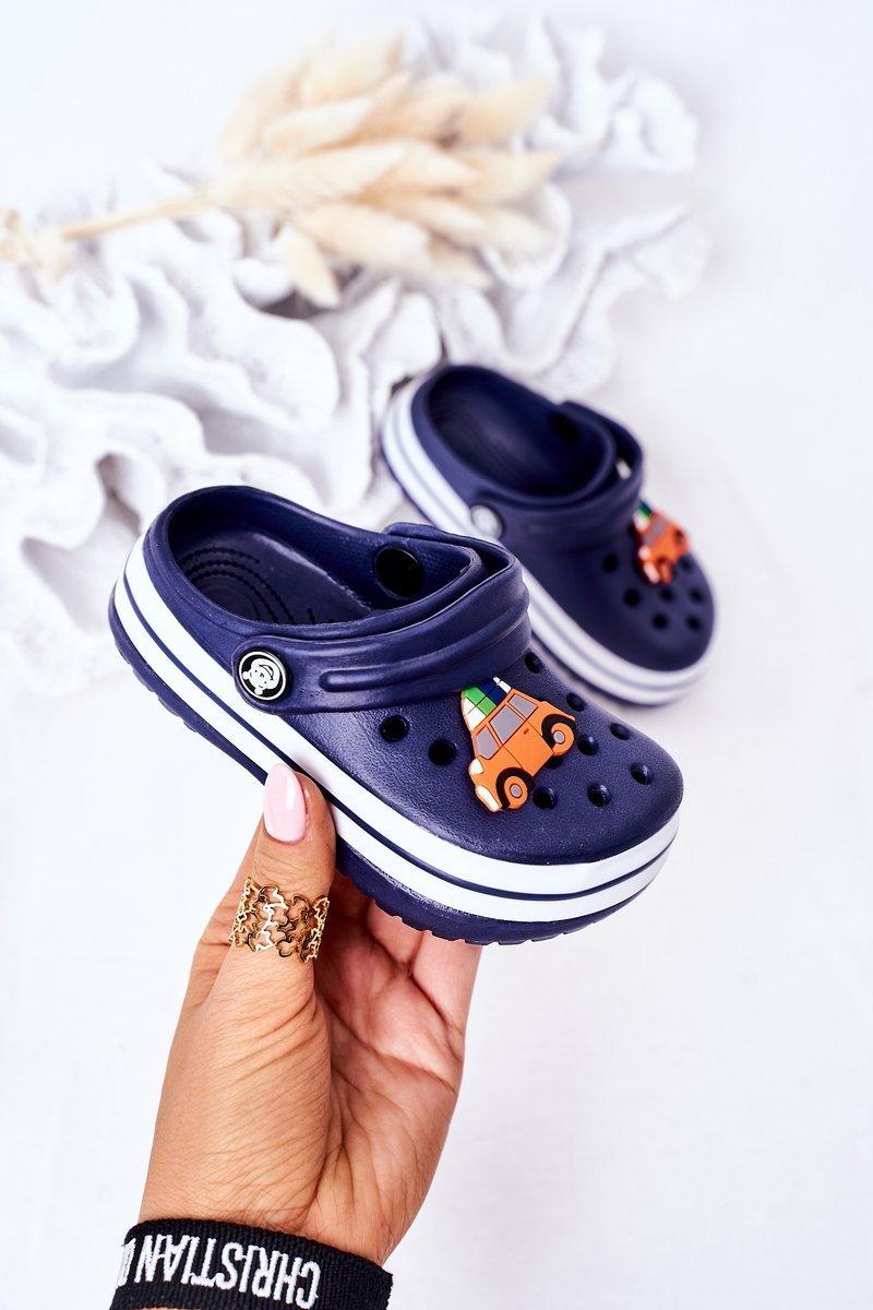 Children's Foam Slippers Crocs Navy Blue Lazy Day