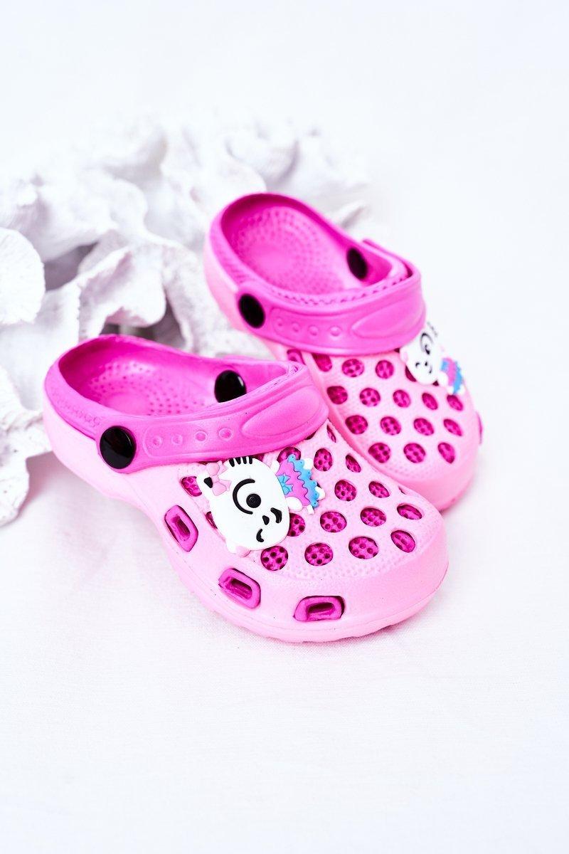Children's Foam Slippers Crocs Pink Jupiter