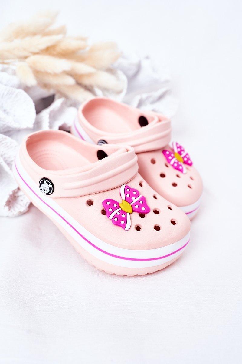 Children's Foam Slippers Crocs Pink Lazy Day
