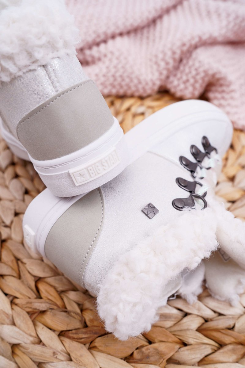 Children's Girl's Shoes Sneakers Big Star White EE374017