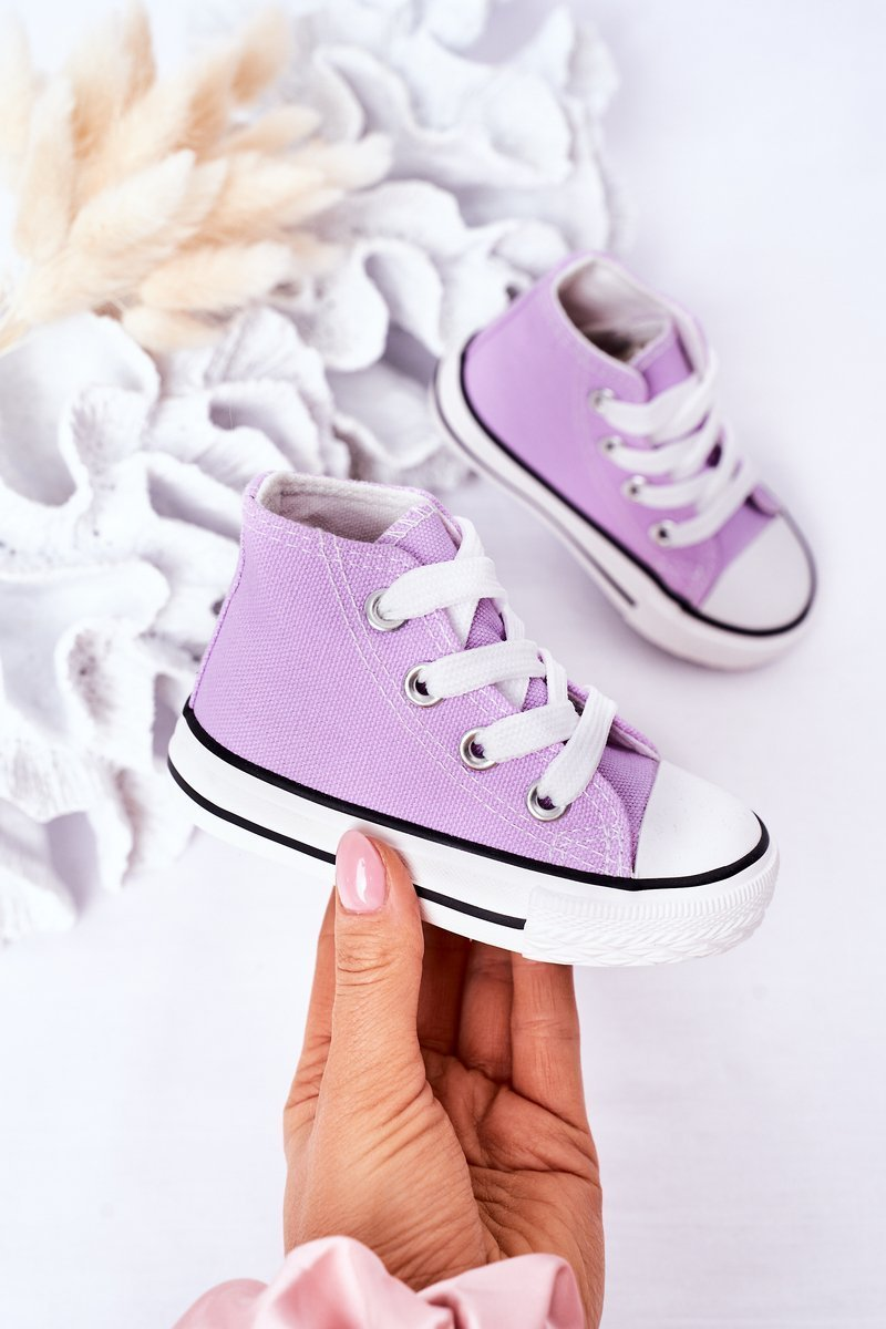 Children's High Sneakers Purple Filemon