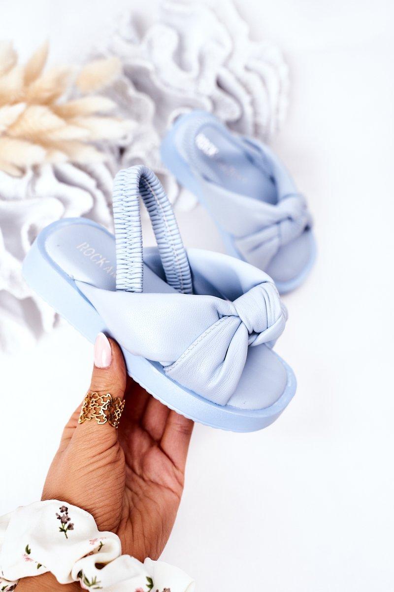 Children's Sandals With Drawstring Blue Bubble Gum