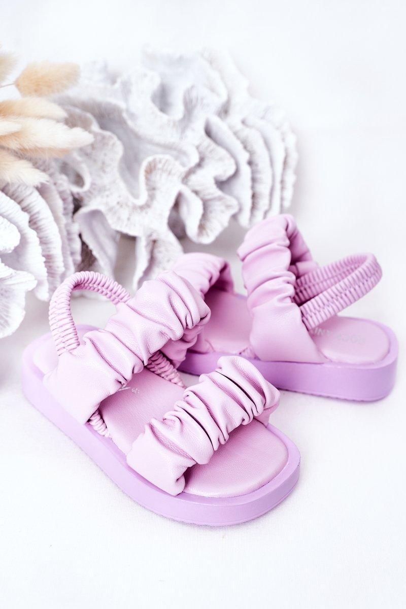 Children's Sandals With Drawstring Purple Sweetness