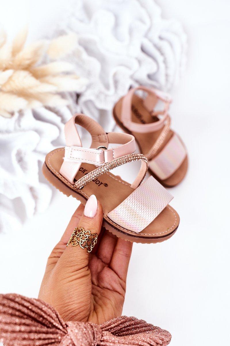 Children's Sandals With Sequins Pink Blake