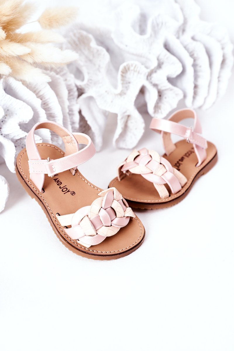 Children's Sandals With Snake Pattern Pink Baxlee