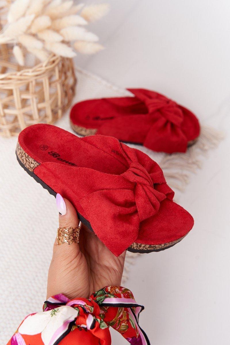 Children's Slippers On Cork Red Little Wendy