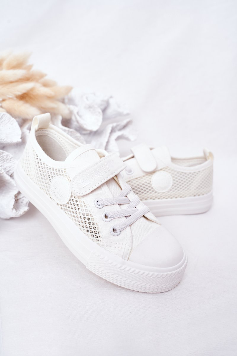 Children's Sneakers With Mesh BIG STAR HH374014 White