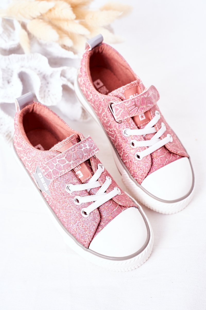 Children's Sneakers With Velcro BIG STAR HH374027 Pink