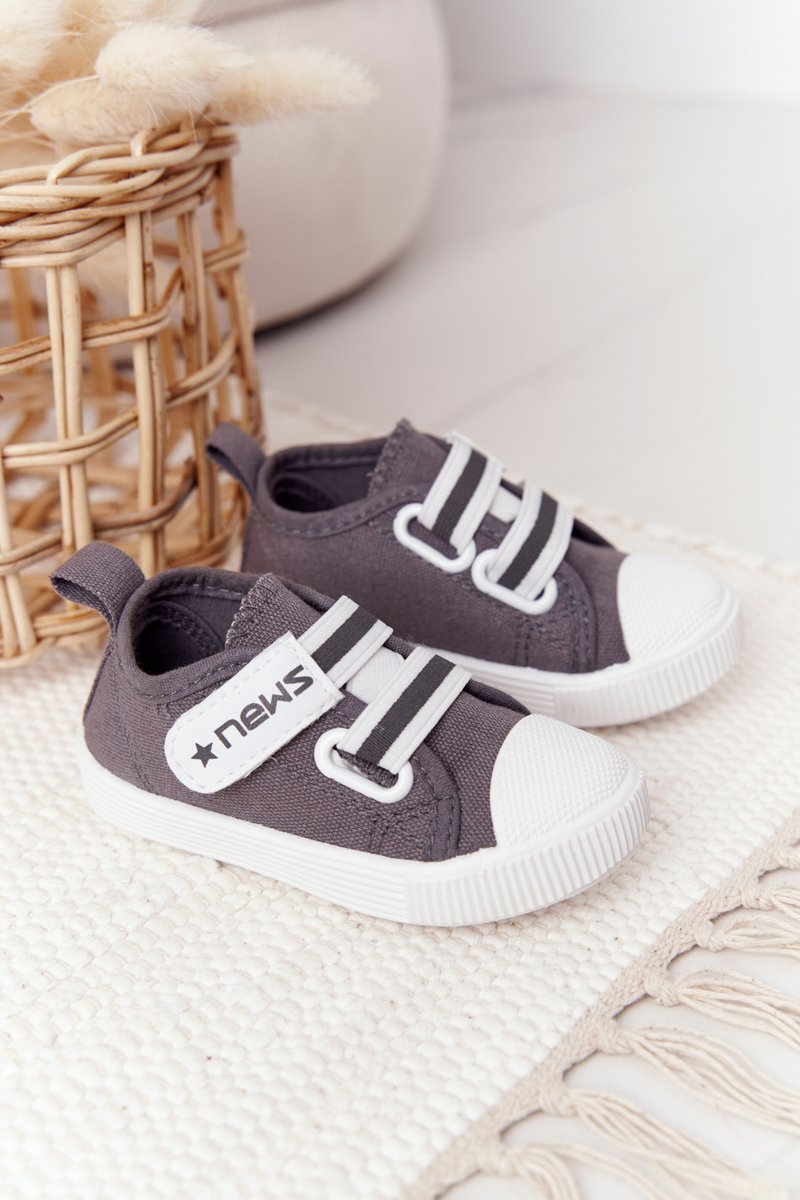 Children's Sneakers With Velcro Grey News
