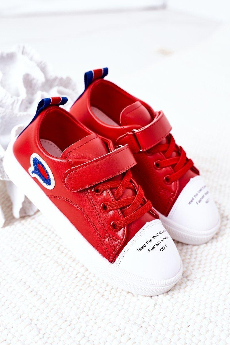 Children's Sneakers With Velcro Red Cartoon