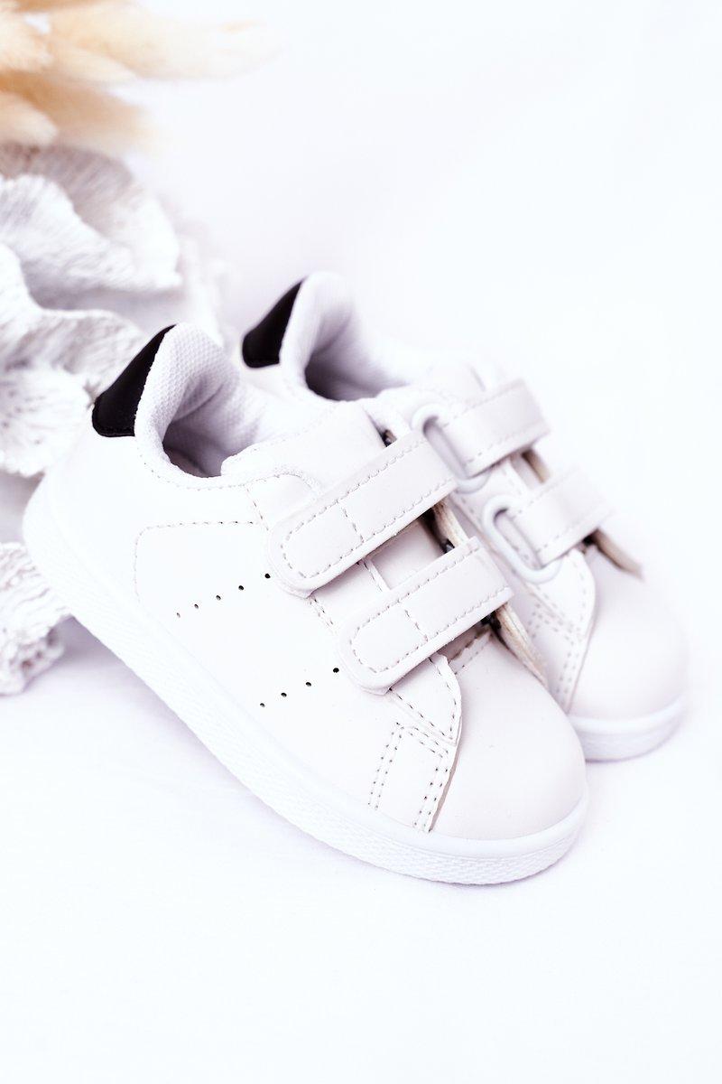 Children's Sneakers With Velcro White-Black California
