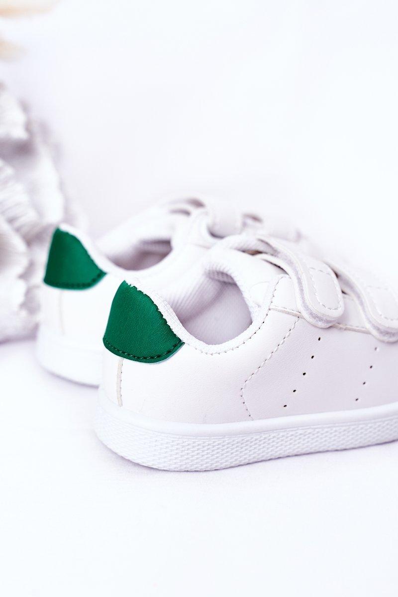 Children's Sneakers With Velcro White-Green California