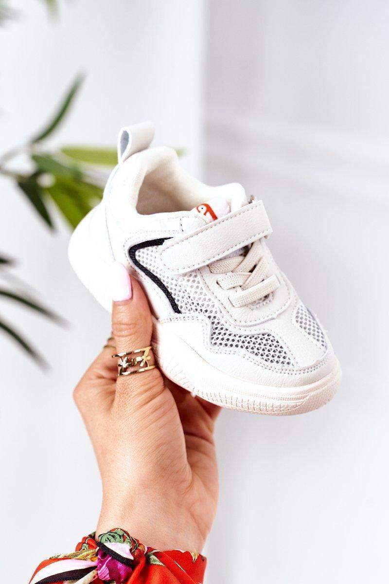 Children's Sport Shoes Sneakers Beige Fun