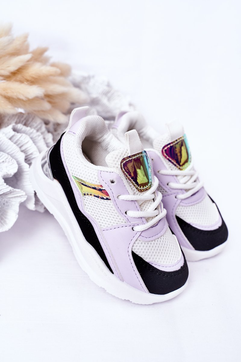 Children's Sport Shoes Sneakers Black-Purple Game Time