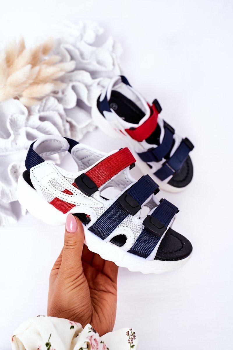 Children's Sport Velcro Sandals Navy Flyn