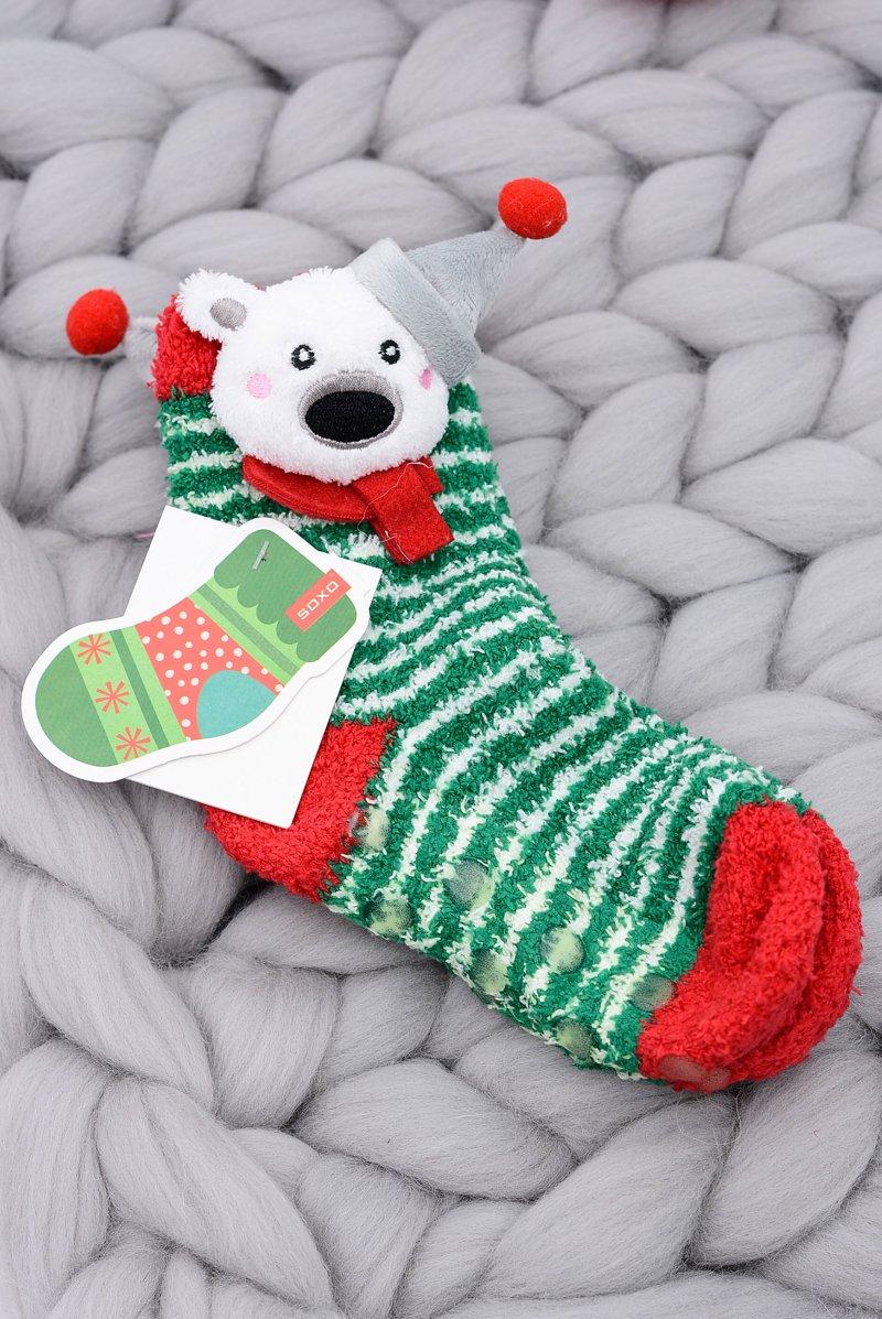 Christmas Socks for Children Soxo Teddy Bear