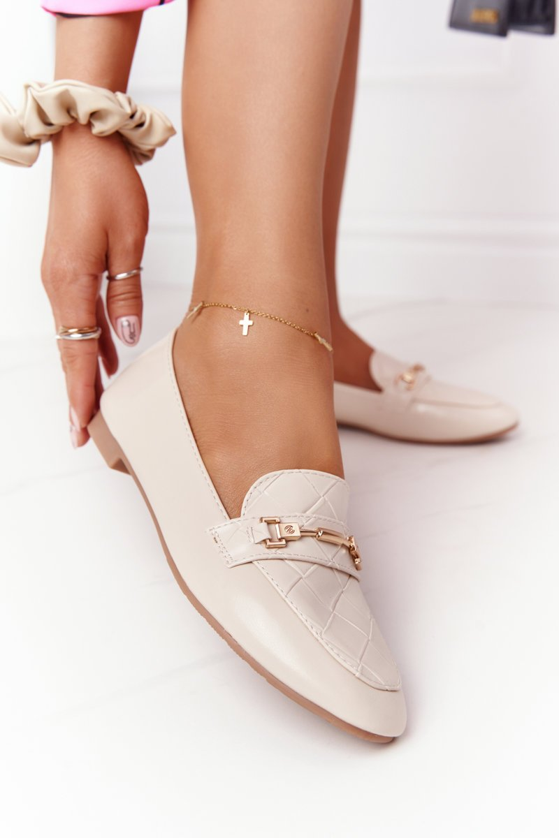 Classic Women's Loafers Beige Eloquence