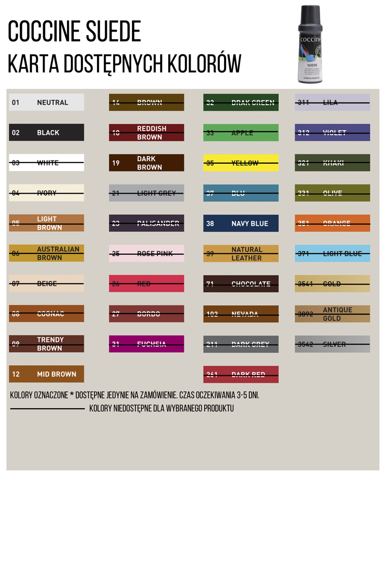 Coccine Color Refresher For Nubuck And Suede