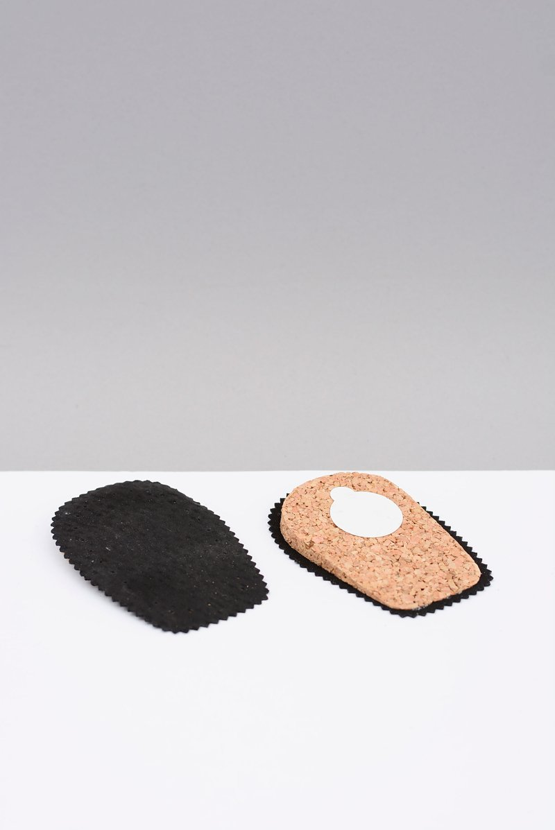 Coccine Heel Pad Corck And Leather Black
