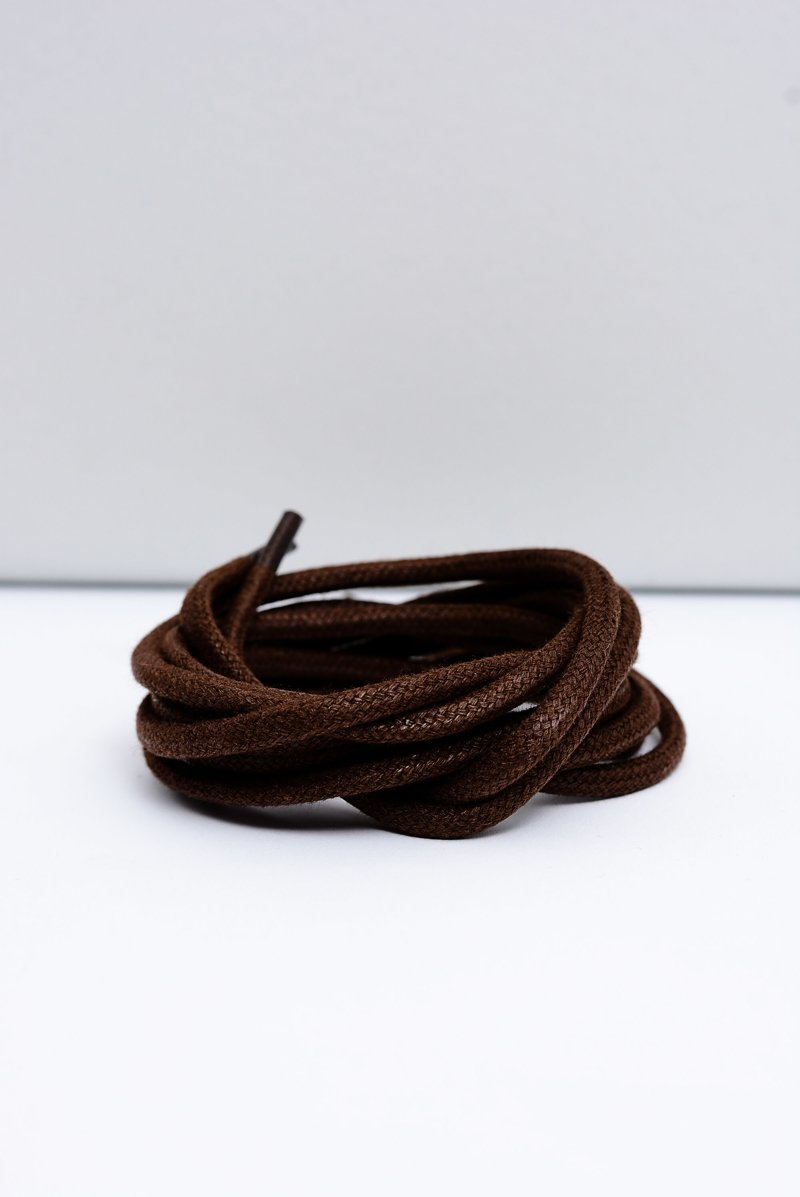 Corbby Brown Waxed Thick Shoelaces
