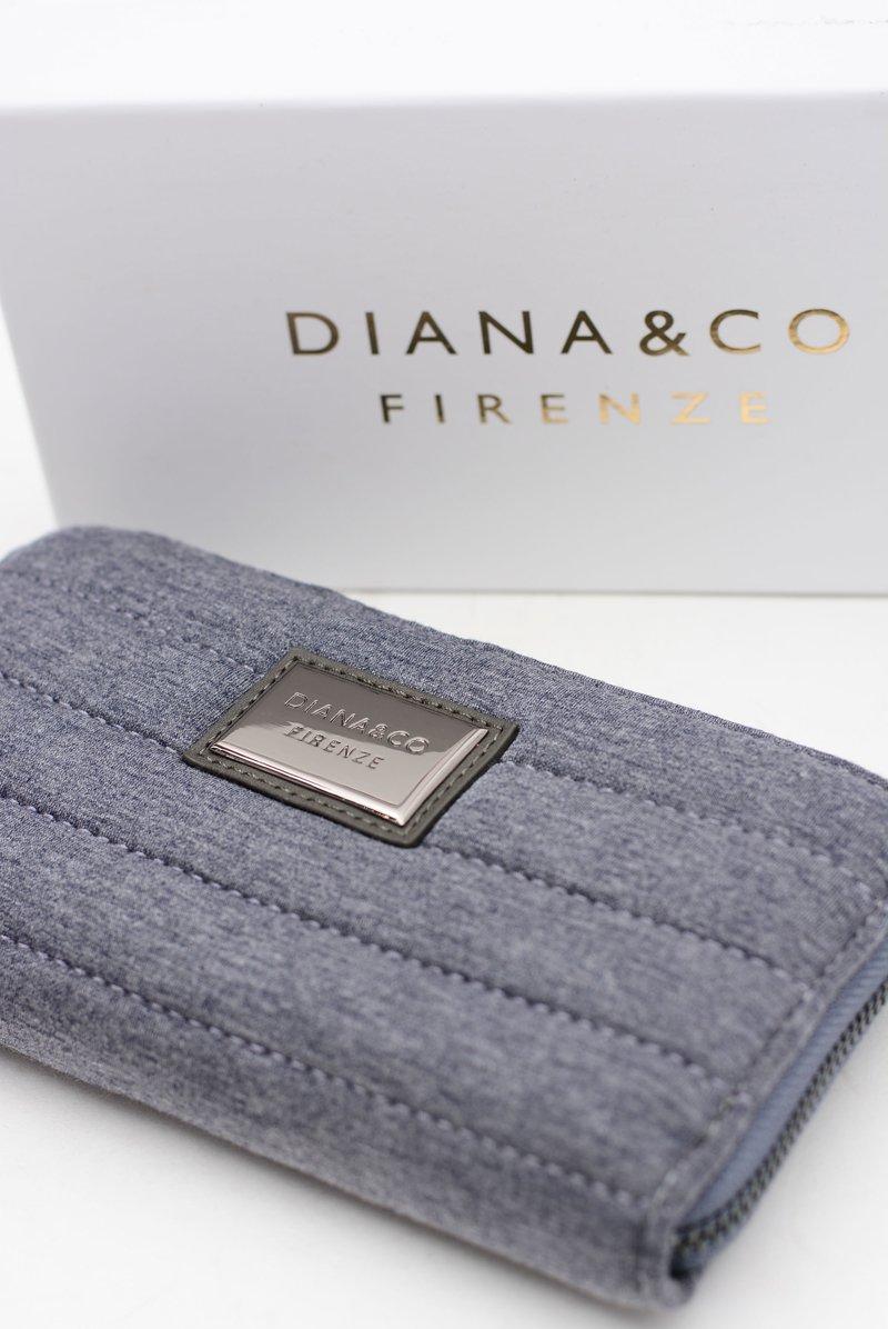 Duży Szary Damski Portfel Jeans DIANA&CO