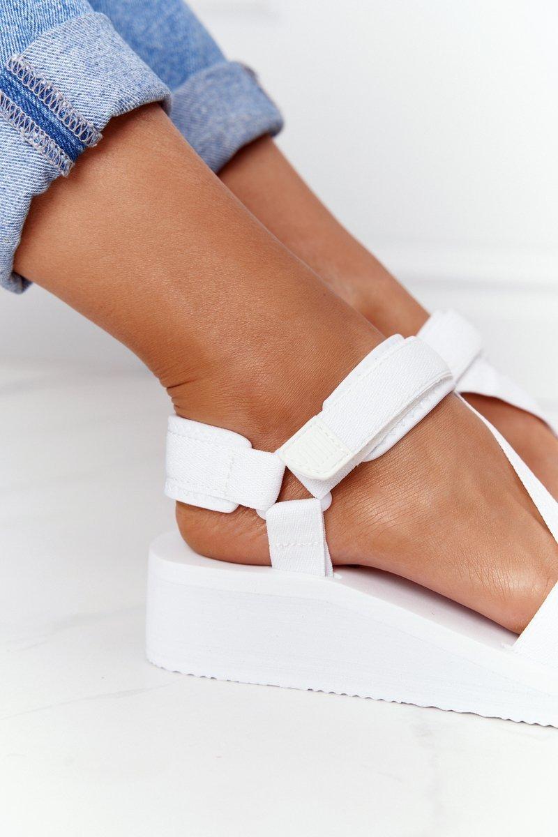 Foam Wedge Sandals Big Star FF274A351 White