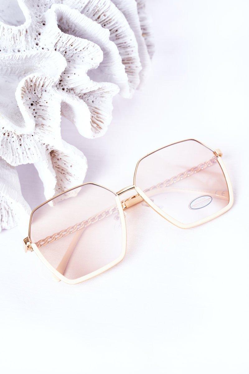 Geometric Sunglasses Beige