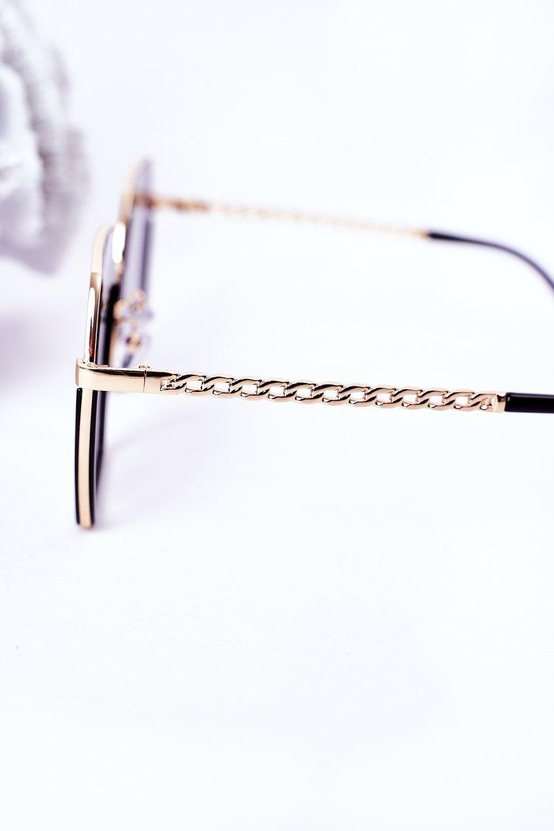 Geometric Sunglasses Black Ombre