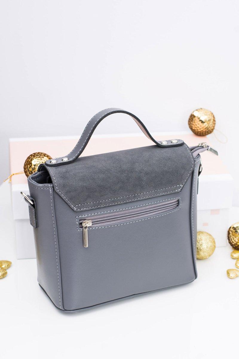 Grey Women Elegant Handbag Coffer