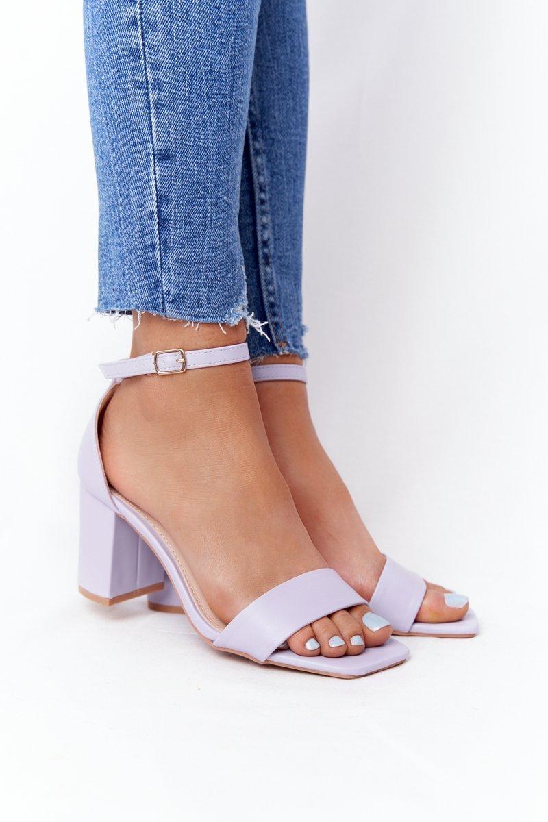 High Heel Sandals Purple Born This Way