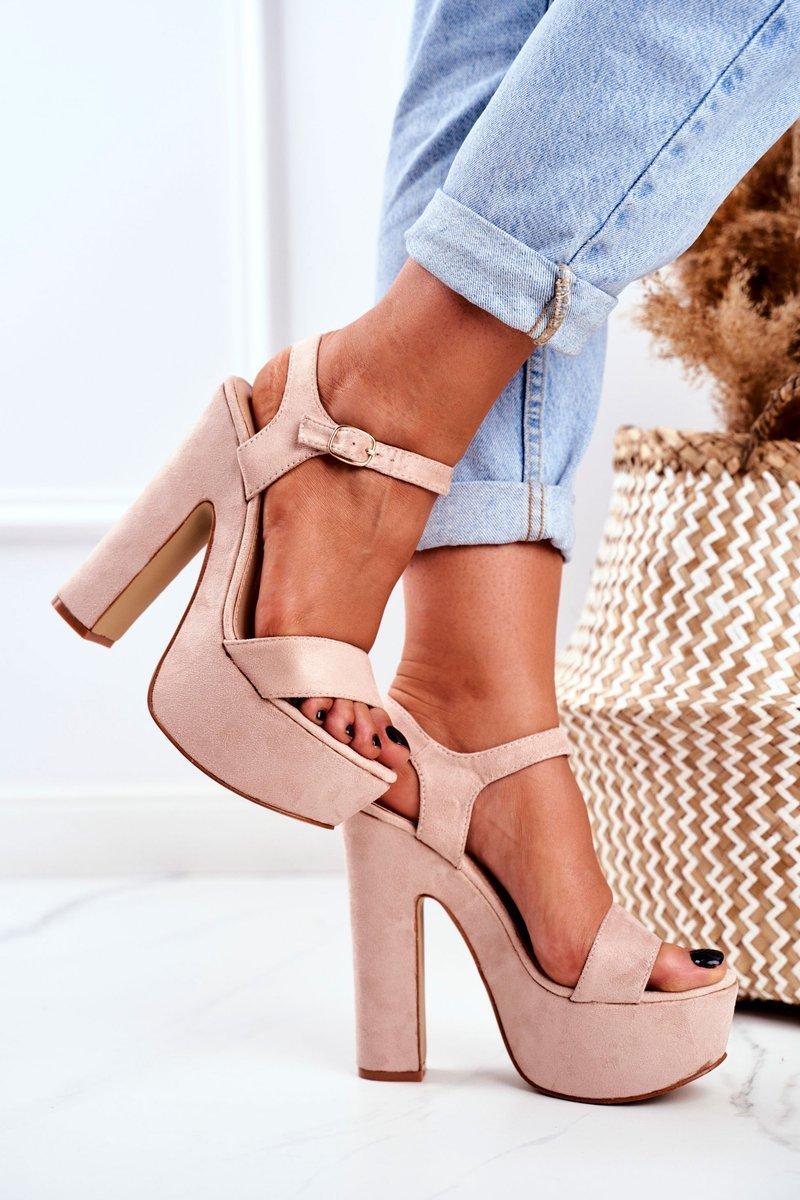 High Pink High Heels Sandals Platform HighShoes