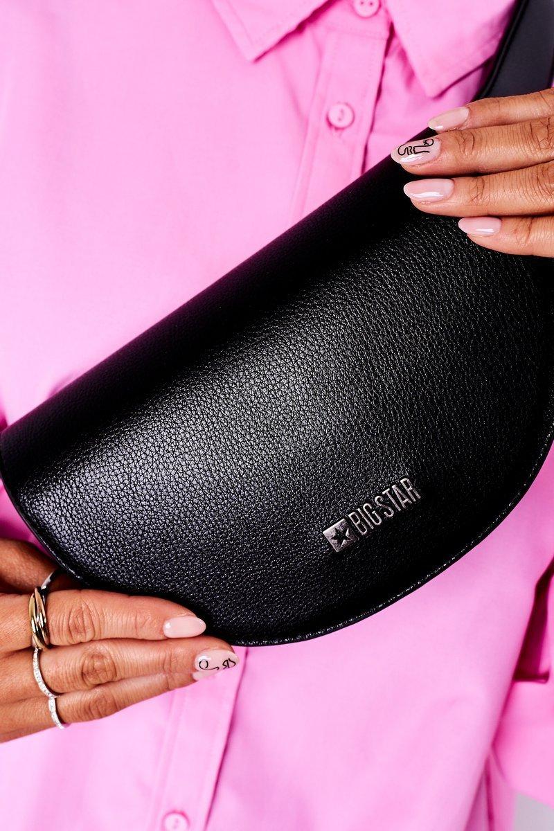 Leather Kidney Bag Big Star HH574075 Black