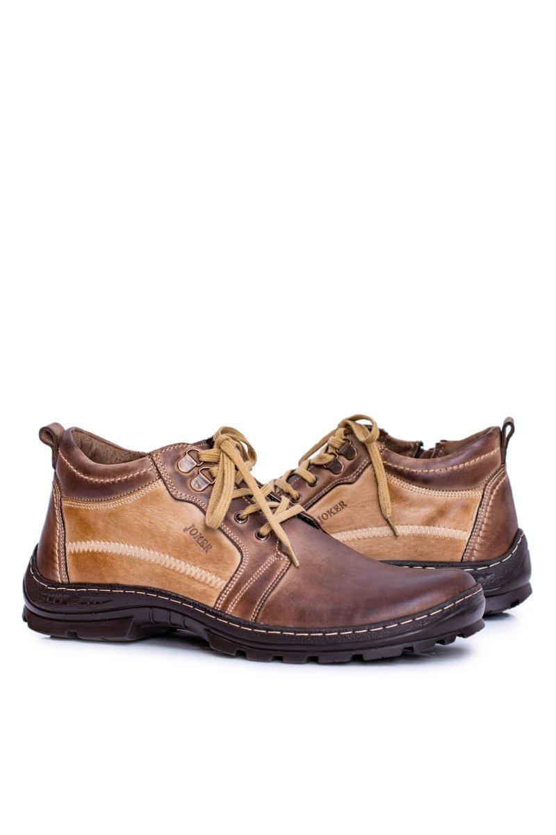 Leather Men's Boots Warm Brown Felgado