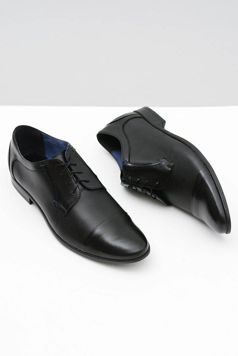 Leather Men's Formal Black Shoes Leopoldo