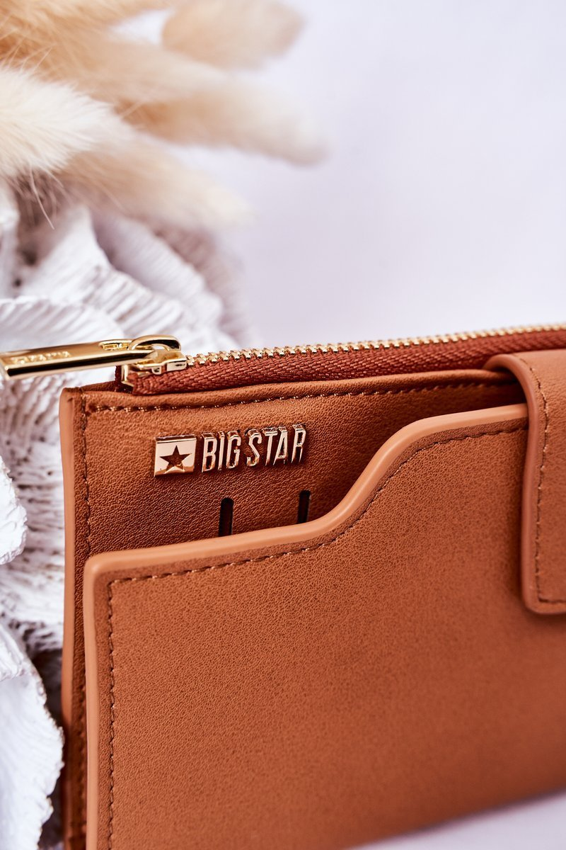 Leather Wallet Big Star HH674010 Camel