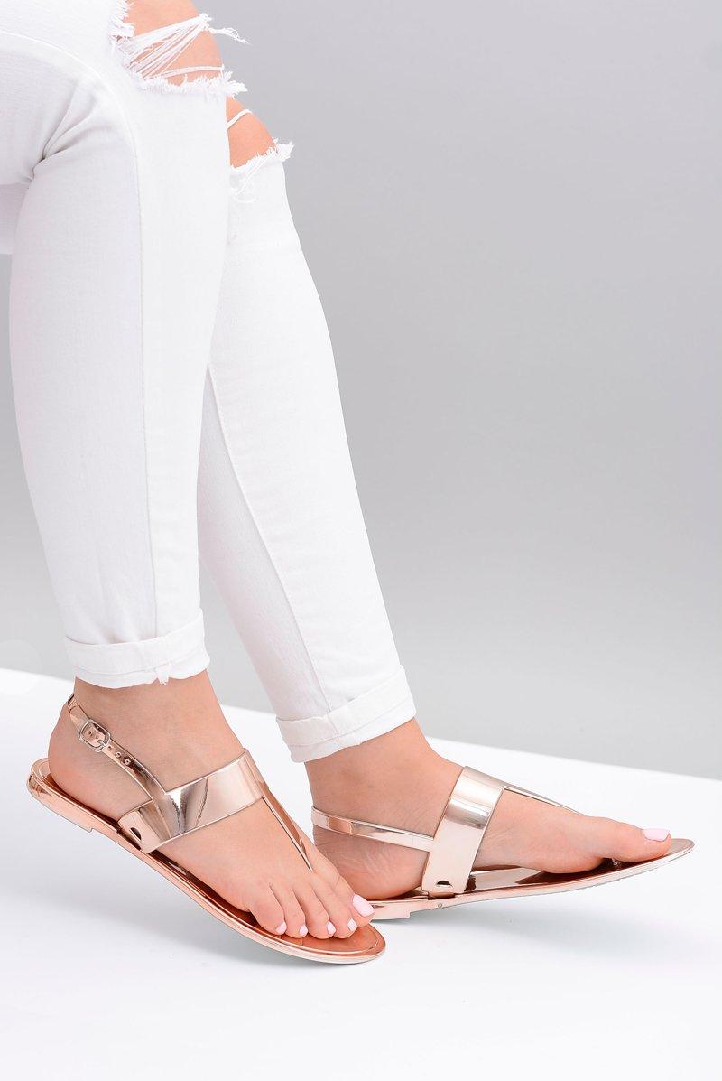 Lu Boo | Mirrored Sandals Golden Rose Flip-flops II-CAT Nora