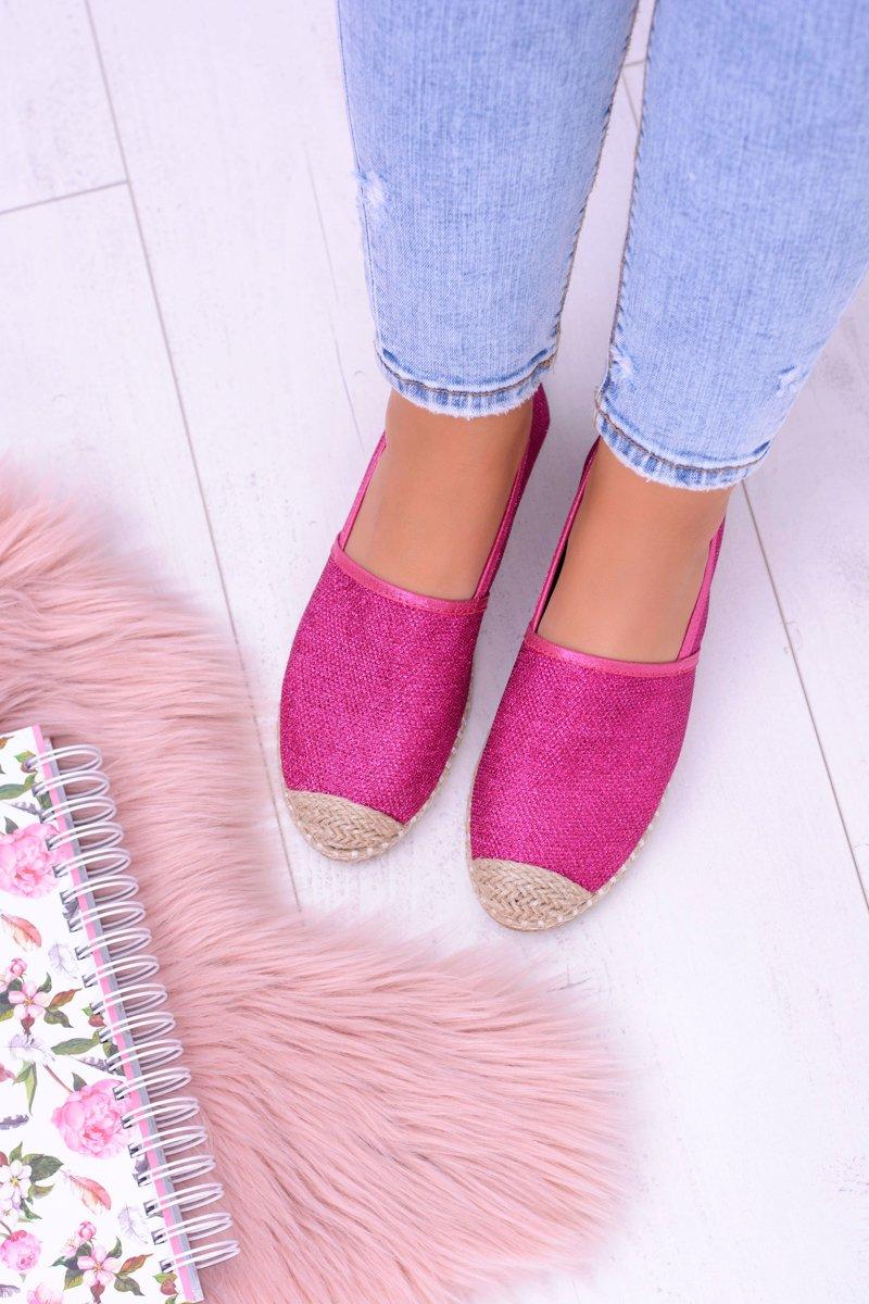 Lu Boo Pink Women Espadrilles Slip On Brocade Miravet