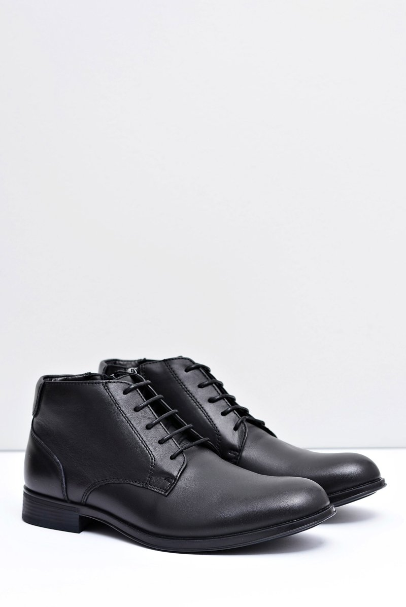 Men's Boots Leather Black Shoes Artemigo