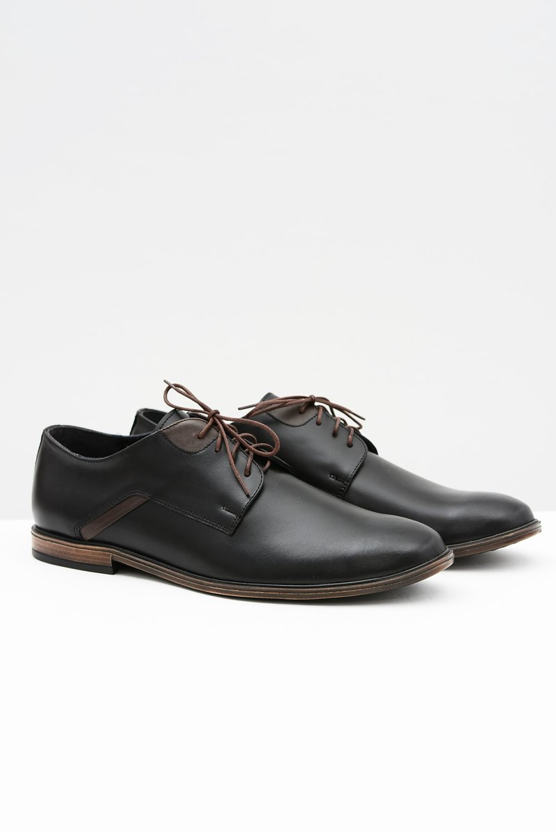 Men's Brogues Bednarek Elegant Leather Black Edgardo