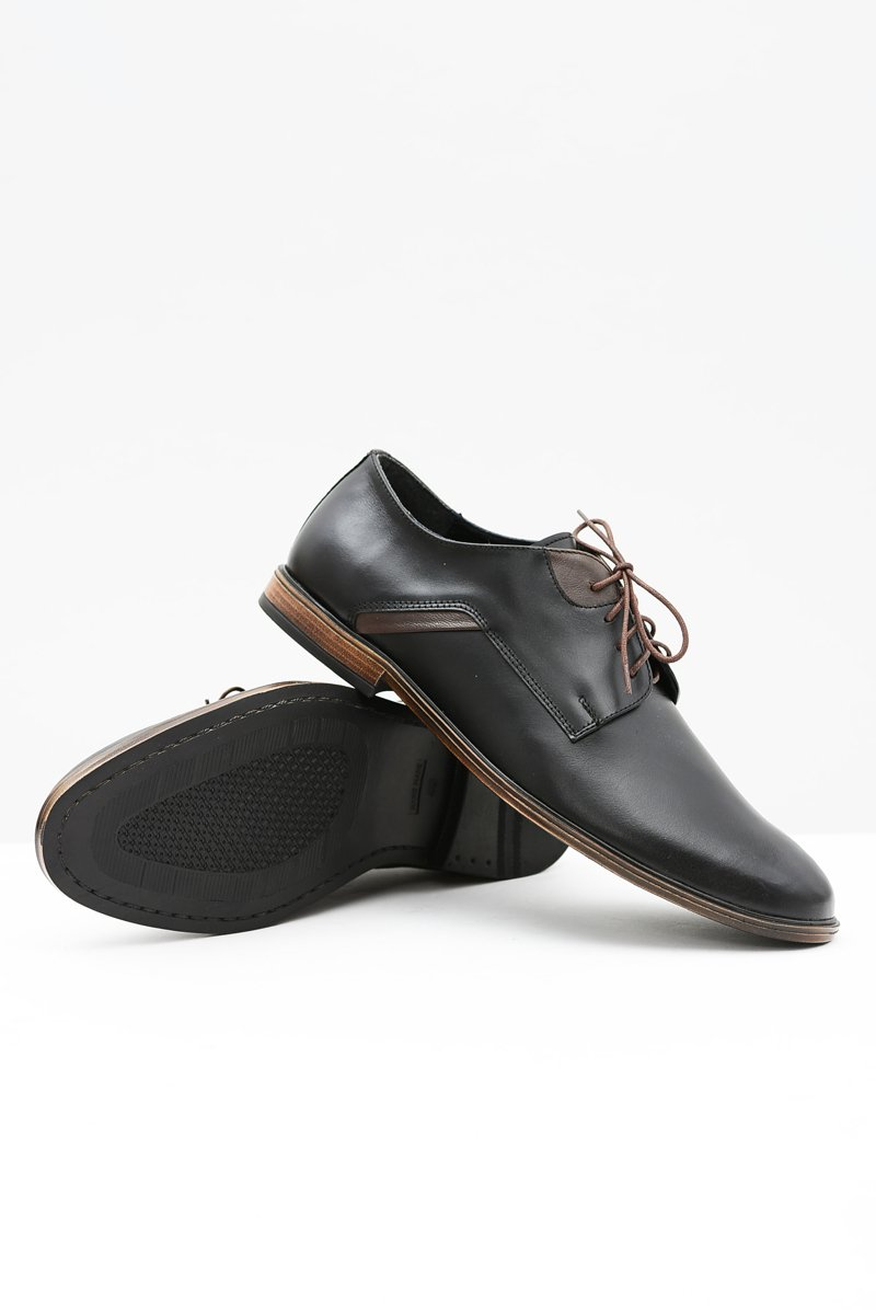 Men's Brogues Bednarek Elegant Leather Black Edgardo