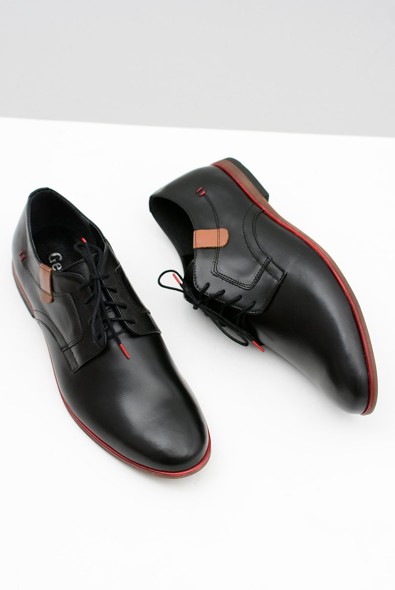 Men's Brogues Bednarek Elegant Leather Black Nikolas
