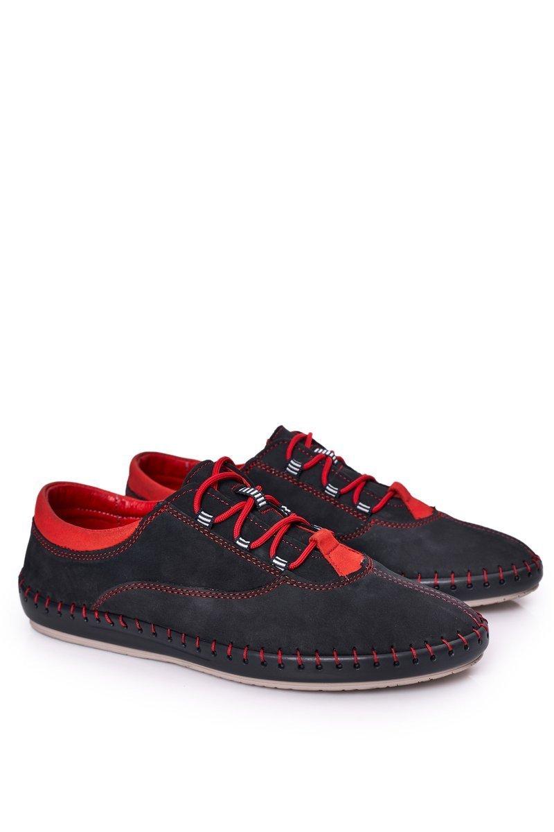 Men's Leather Shoes BEDNAREK Navy Blue