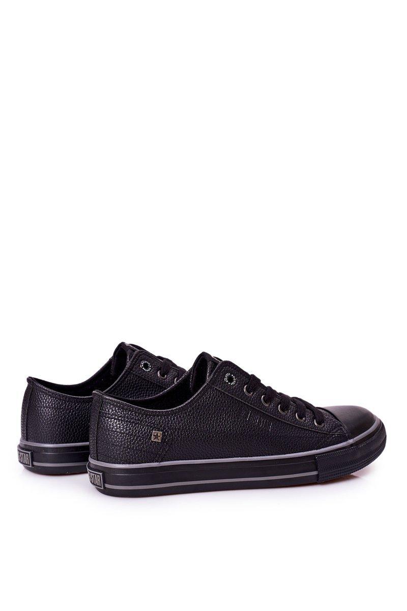 Men's Leather Sneakers Big Star II174002 Black