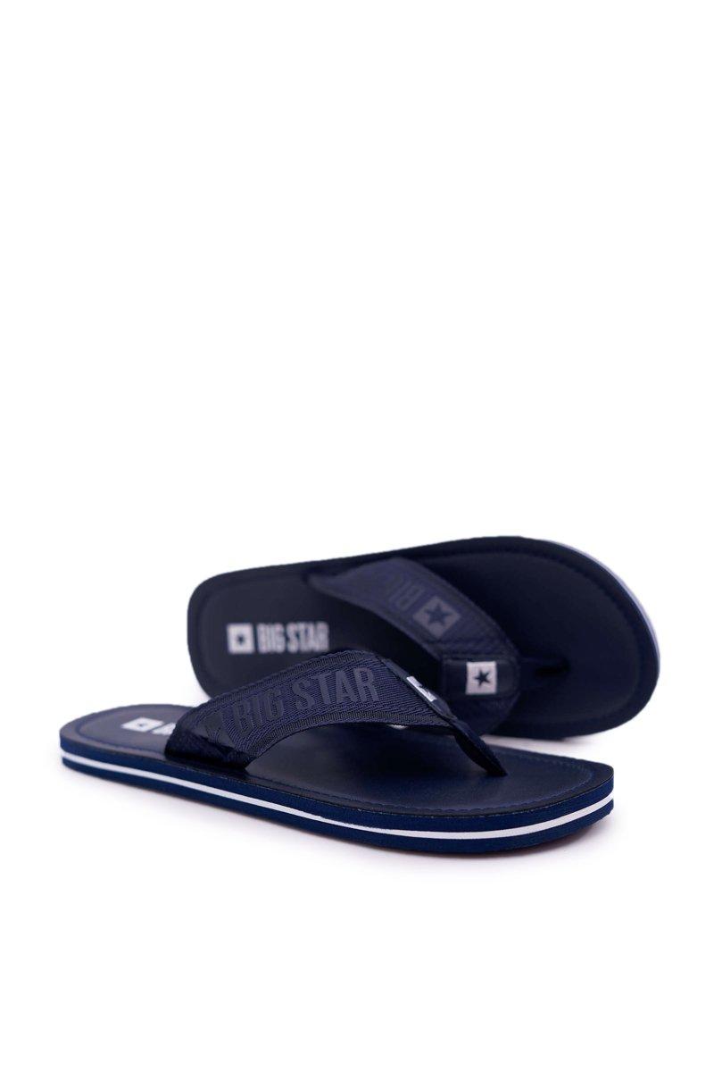 Men's Slides Flip flops Big Star Navy Blue DD174676