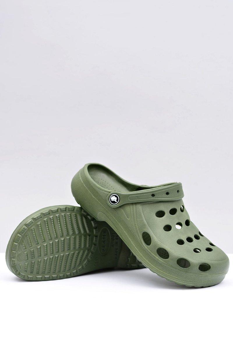 Men's Slides Sandals Crocs Green